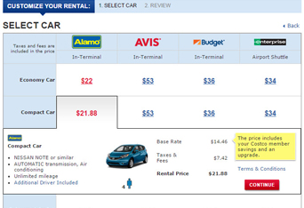 Costco coupon code for car rental