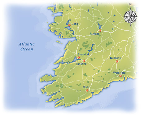 Map Of The West Of Ireland.West Ireland Vacation Packages At Costco Travel