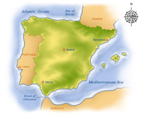 Show Me The Map Of Spain.Spain Vacation Packages At Costco Travel