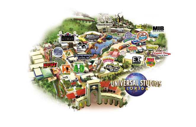 Universal Orlando Florida Map.Theme Parks And Specialty Vacations At Costco Travel